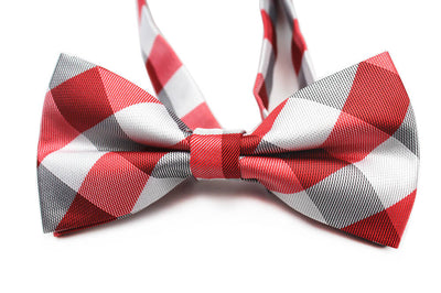 BOW TIE | RED WHITE PLAID | SILK