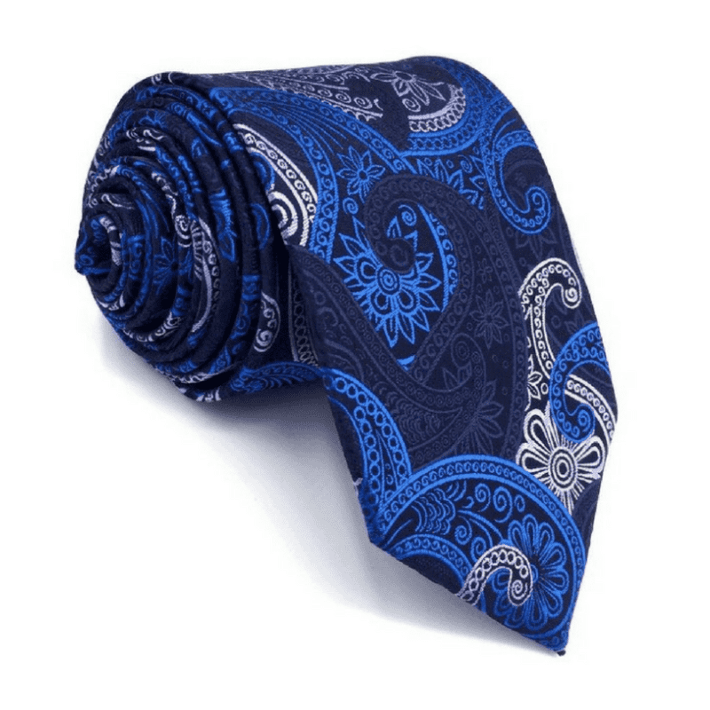 TIE | BLUE WHITE PAISLEY | SILK