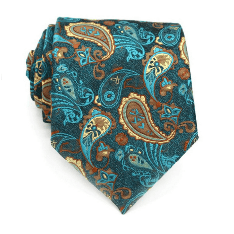 TIE | YELLOW BLUE PAISLEY | SILK