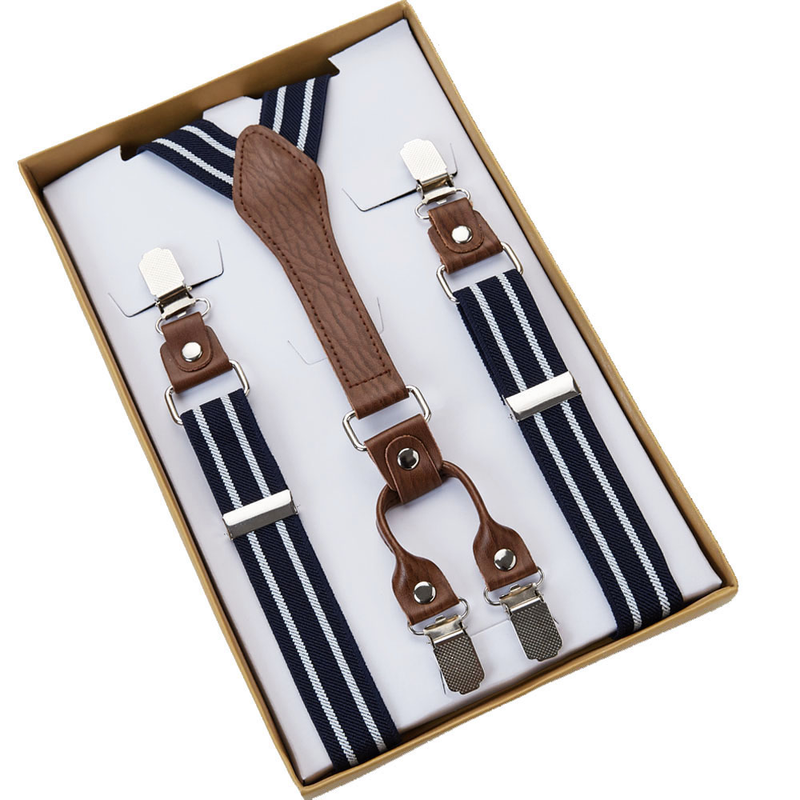 SUSPENDERS | BLUE WHITE STRIPES
