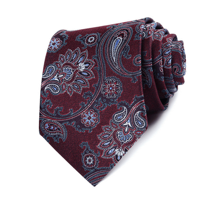 TIE | BURGUNDY BLUE FLORAL | SILK