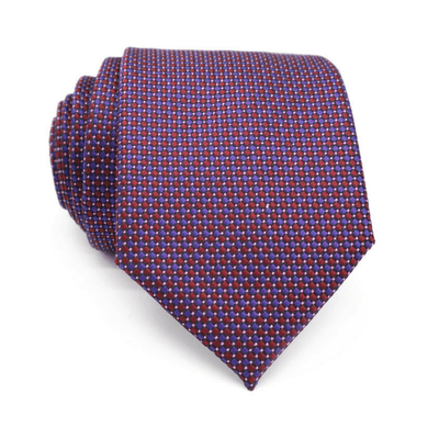TIE | PURPLE RED DOTS | SILK