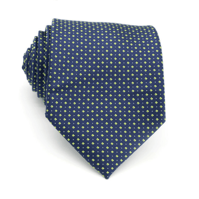 TIE | NAVY BLUE SQUARE DOTS | SILK
