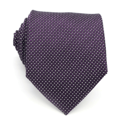 TIE | PURPLE WHITE DOTS | SILK