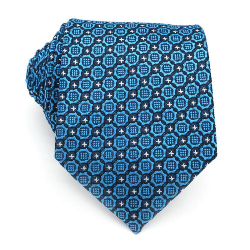 LUXURY TIE | BLUE BLACK DOTS | SILK