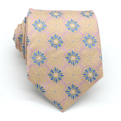 TIE | LIGHT GOLD FLORAL | SILK