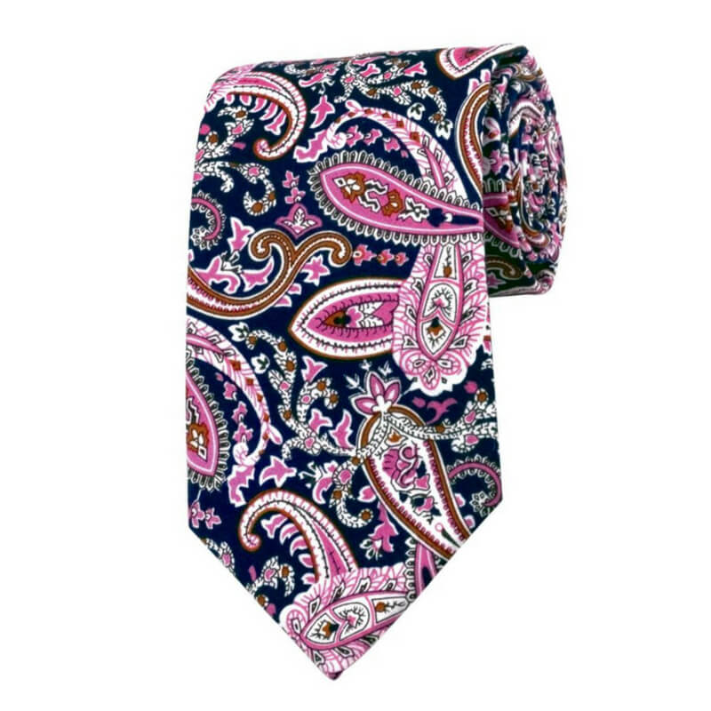 TIE | BLUE PURPLE PAISLEY | COTTON