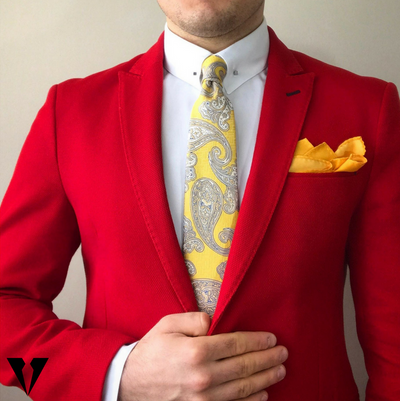 TIE | YELLOW PAISLEY | SILK