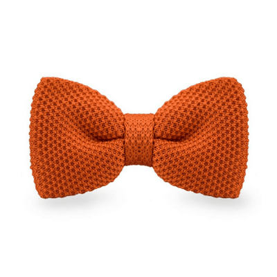 BOW TIE | ORANGE KNITED | WOOL