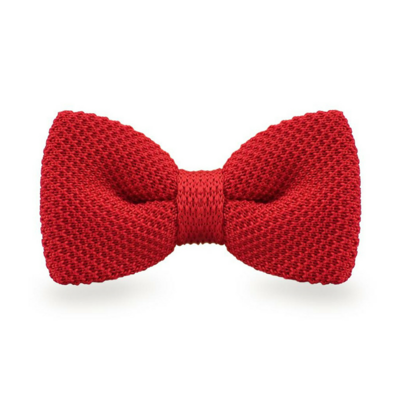BOW TIE | RED KNITED | WOOL