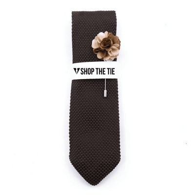 SLIM TIE | BROWN KNITTED | COTTON