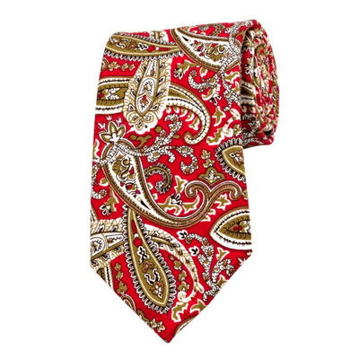 TIE | RED BROWN PAISLEY | COTTON