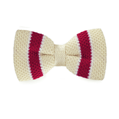 BOW TIE | RED STRIPES KNITED | WOOL