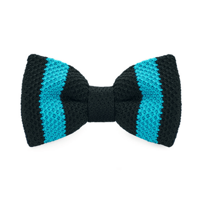 BOW TIE | LAKE BLUE STRIPES KNITED | WOOL