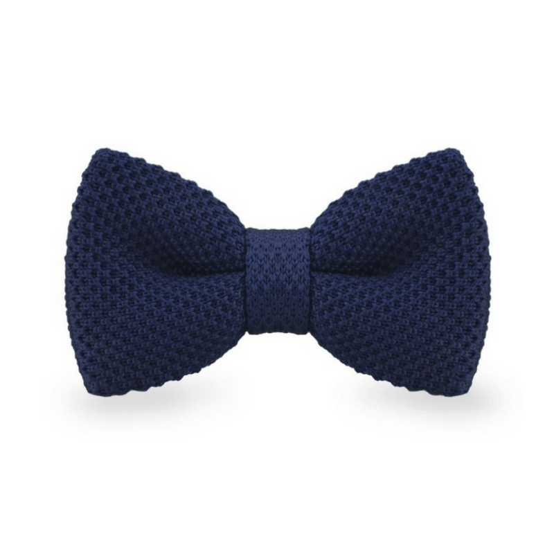 BOW TIE | DARK BLUE KNITED | WOOL