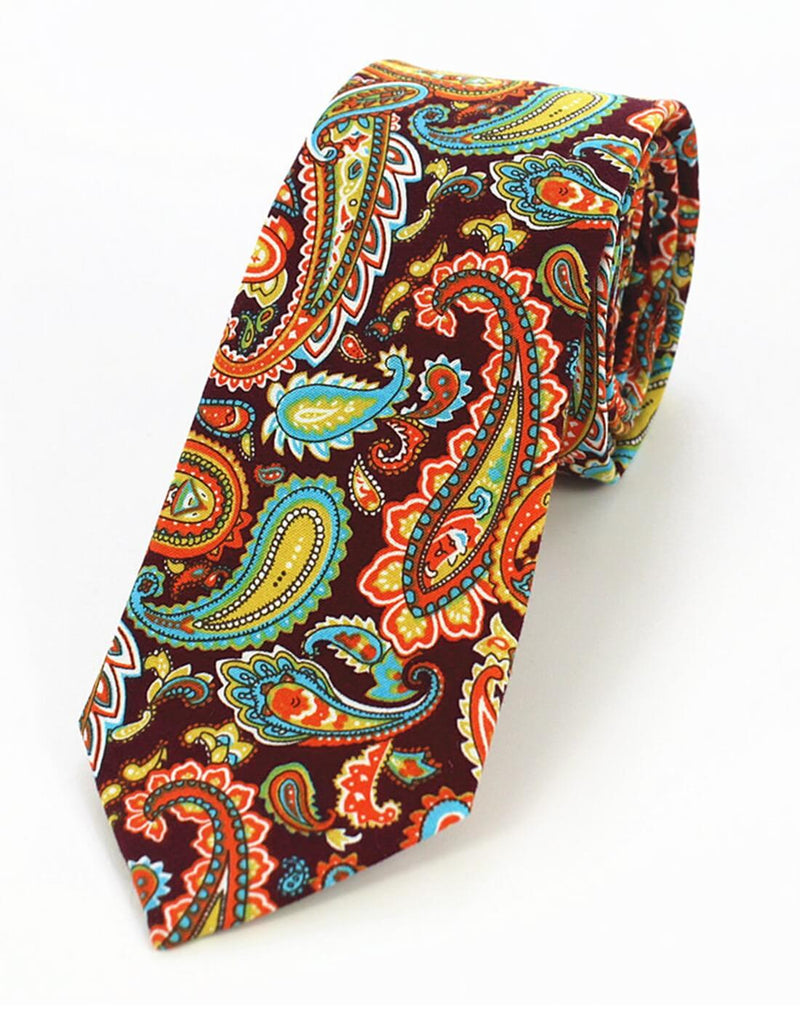 JAVA TIE | PAISLEY | COTTON