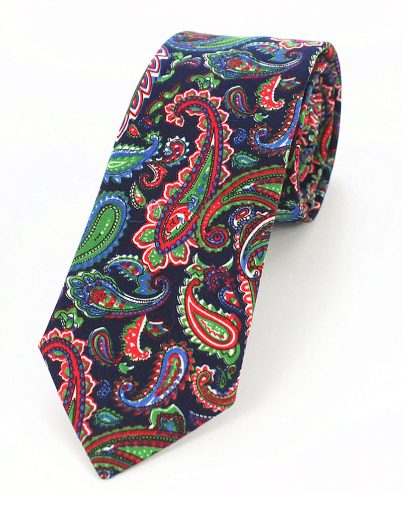 MADAGASCAR TIE | PAISLEY | COTTON