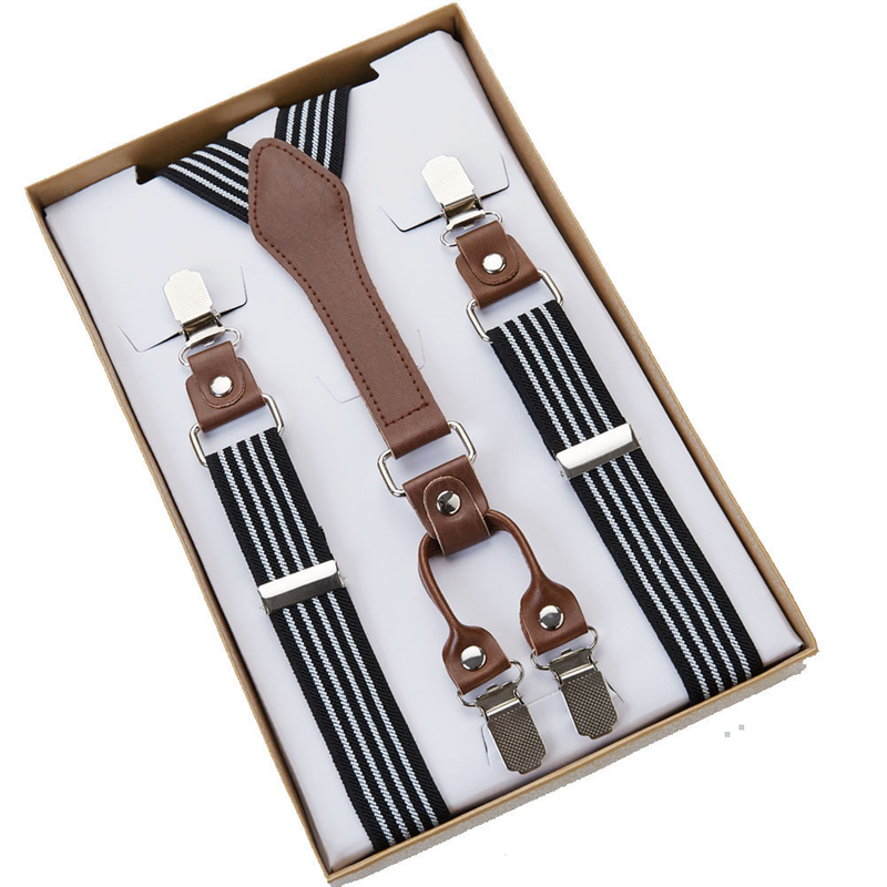 SUSPENDERS | BLACK WHITE STRIPES