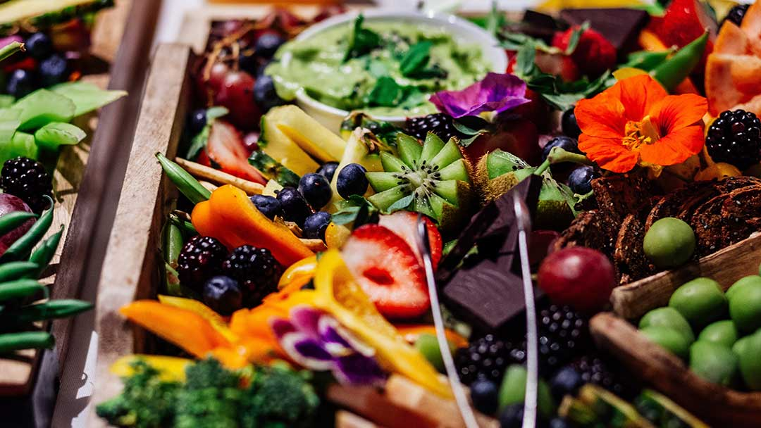 Platter of Antioxidant Rich Foods to Help Repair Sun Damage