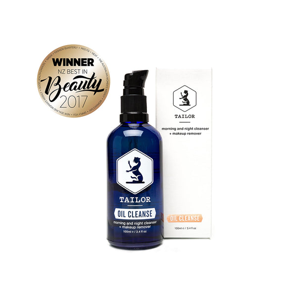 Oil Cleanse pictured with box and 2017 Best in Beauty Award.