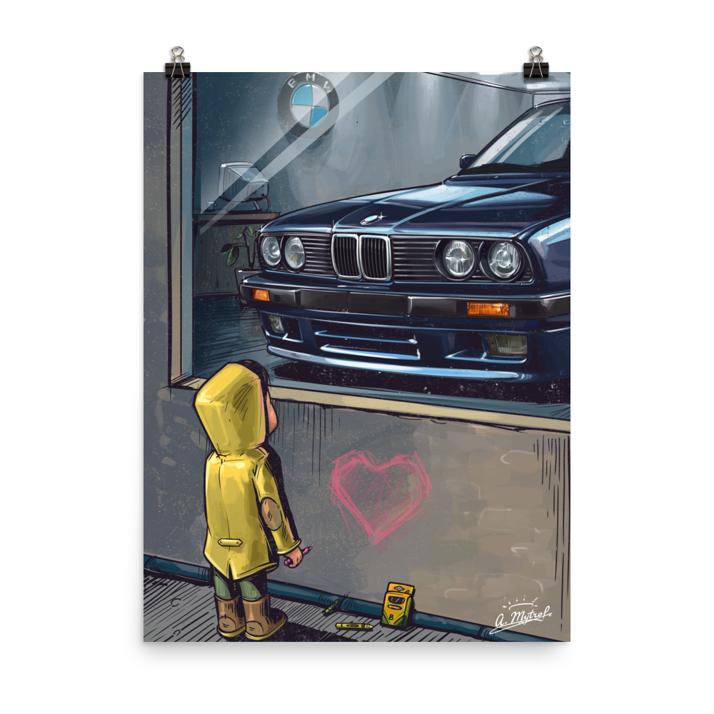 Daydreaming E30 Mtech2 Poster