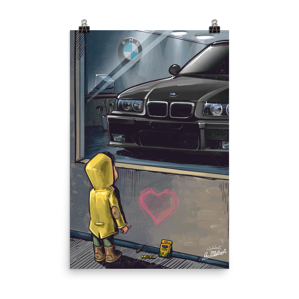 Daydreaming E36 M3 Poster