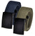 Adjustable Cut to Fit Golf Belt Pack Casual Outdoor Heavy Duty Canvas with Black Flip Top Buckle