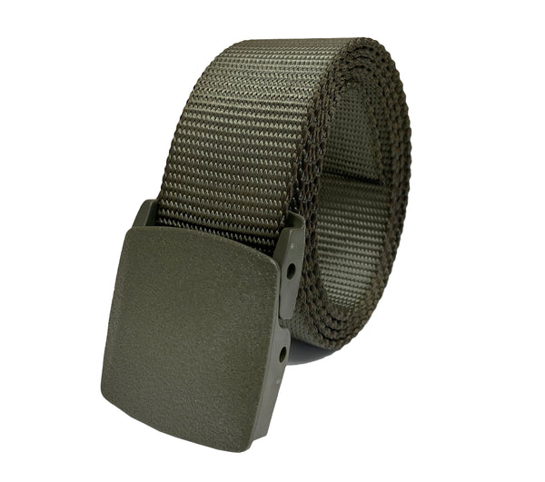 "Men's Adjustable High Strength Utility Tactical Belts with Heavy Duty Plastic Buckle Up to 80"" Length"