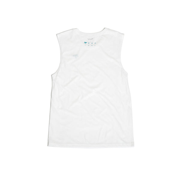 Men's Muscle white - Trapical