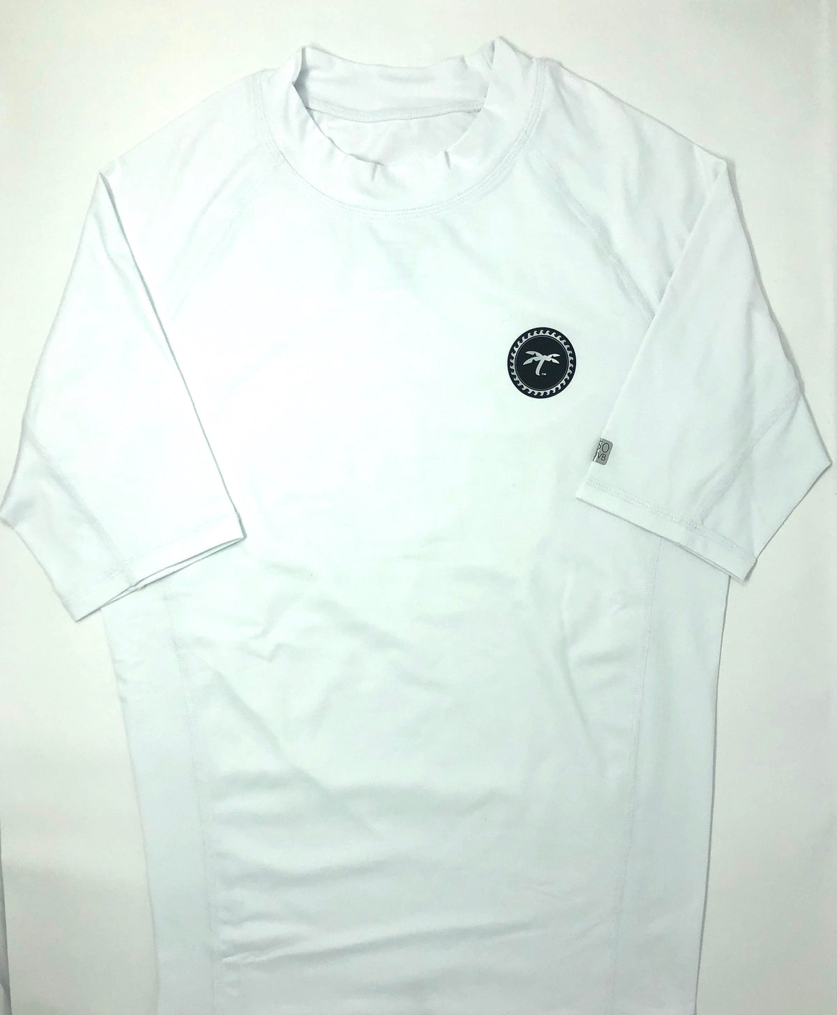 Rash-guard short sleeve white