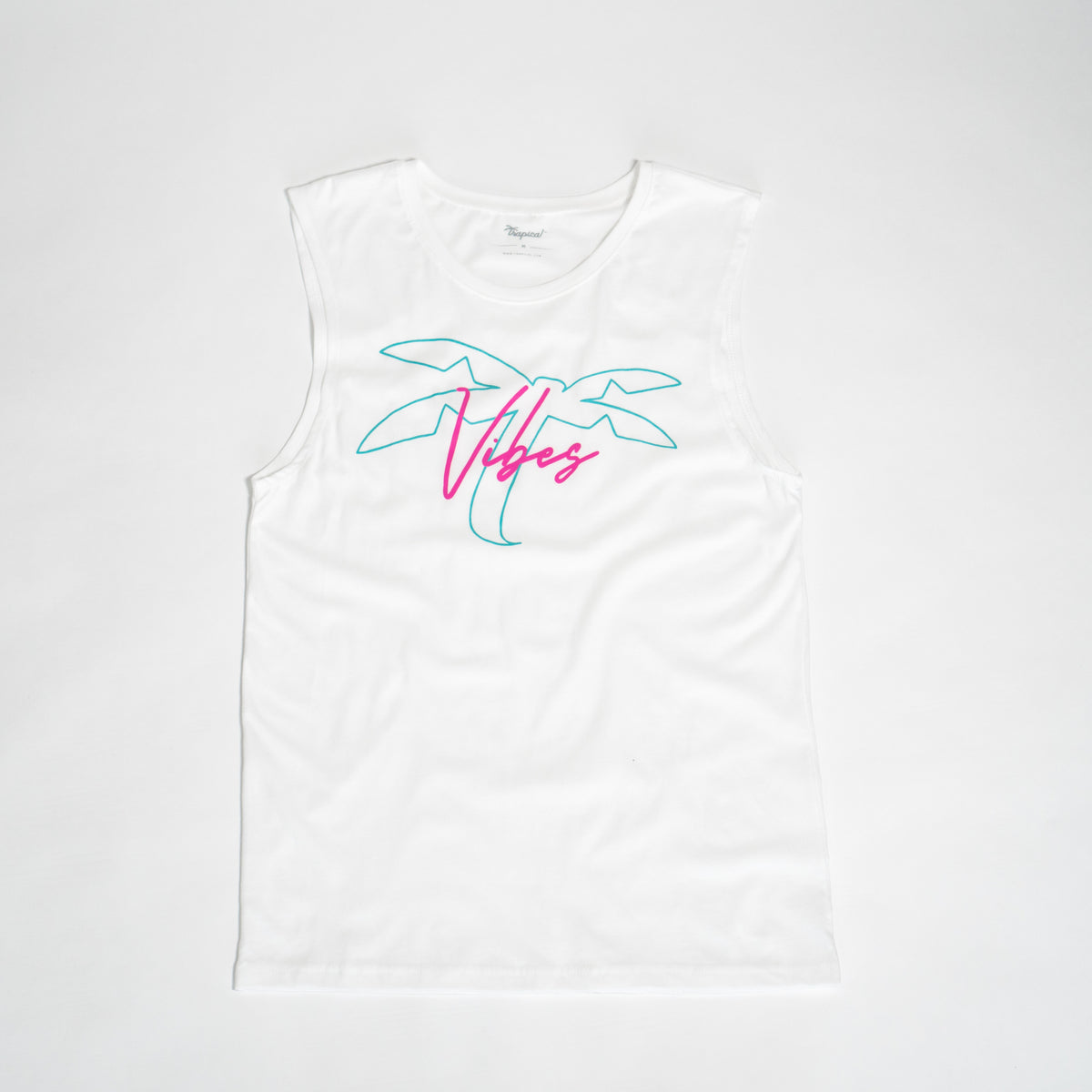 Men's T Vibes white - Trapical