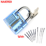 Transparent Padlock With Broken Key (22 Pcs)