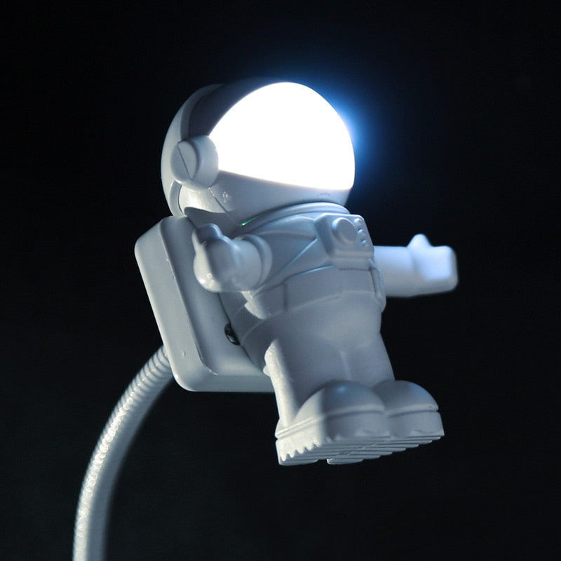 White Flexible Spaceman Astronaut USB Light
