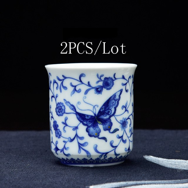 2PCS/Lot Crystal Hollow Teacup