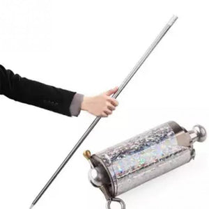 Metal High Elasticity Steel Silver Appearing Cane Magic Stick