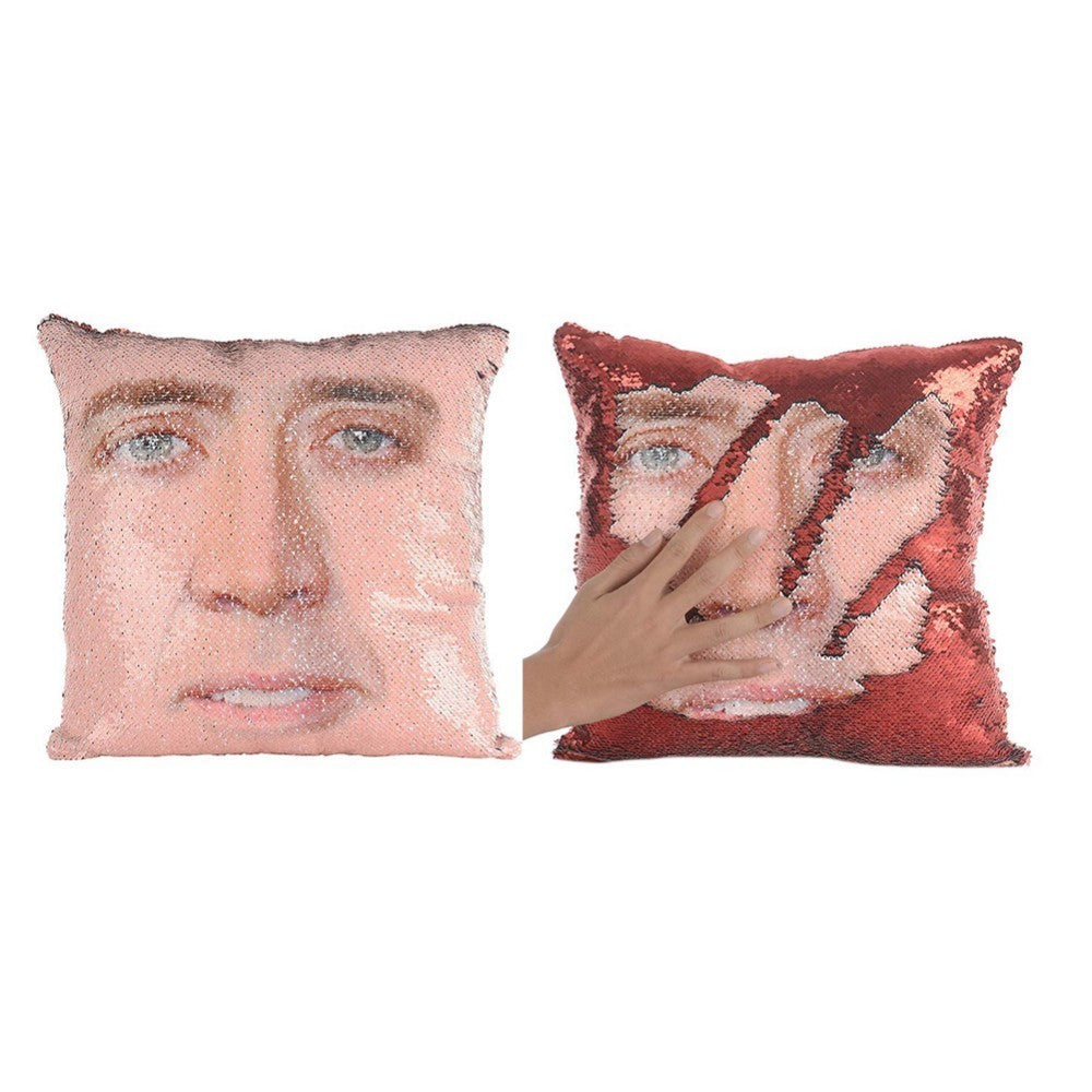 Nicolas Cage Reversible Sequin Pillow