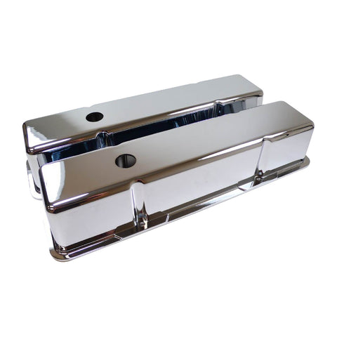 1500 SERIES VALVE COVERS SMOOTH ALUMINUM - CHEV SB - Tall