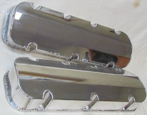 1520 SERIES VALVE COVERS FABRICATED ALUMINUM - CHEV BB - POLISHED