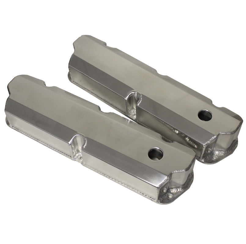 1530 SERIES VALVE COVERS FABRICATED ALUMINUM - FORD SB