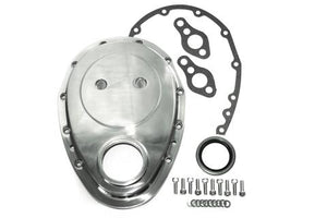 1600 SERIES TIMING COVER KIT with GASKETS & BOLTS CHEV SB-BB - POLISHED