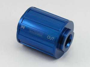 730 SERIES FUEL FILTER - 8AN O'RING PORTS 2.750 x 2.000 - 75 Micron