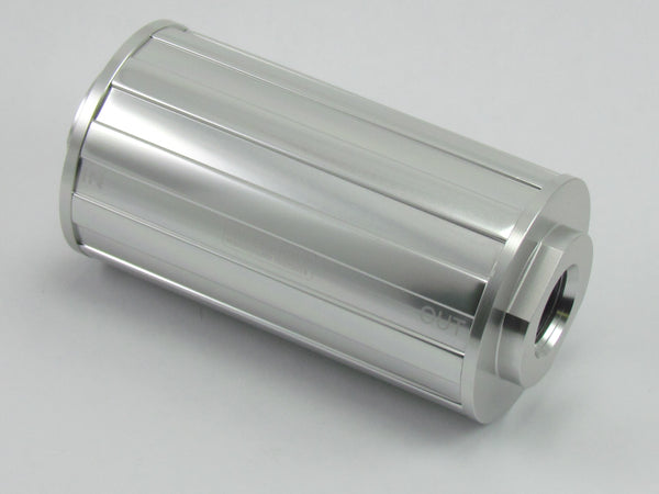 730 SERIES FUEL FILTER - 8AN O'RING PORTS 4.250 x 2.000 - 75 Micron