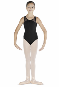 Bloch Gathered Neck Embroidered Leotard 8-10 Years