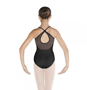 Bloch Embroidered Pintuck Cross Back Camisole Leotard