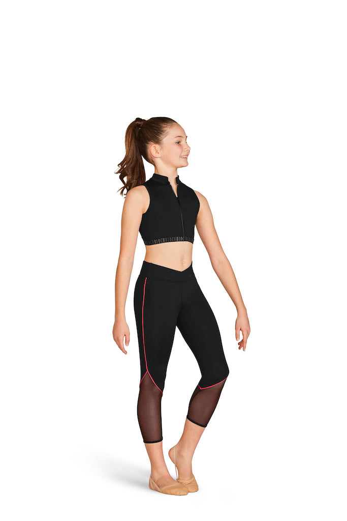 BLOCH Girls Contrast Piping Detail 7/8 Leggings