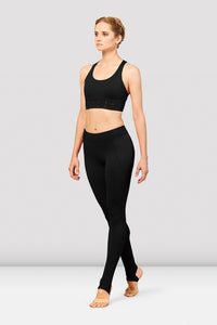 BLOCH Embroidered Trim Full Length Stirrup Leggings