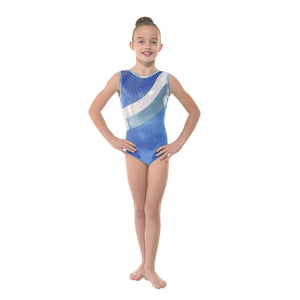 Tappers & Pointers Smooth Velvet Royal Blue Gymnastics Leotard