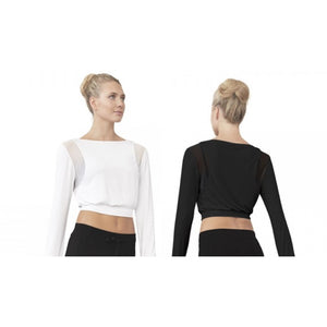BLOCH Boat Neck Long Sleeve Crop Top