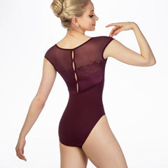 Bloch Floral Back Cap Sleeve Leotard