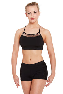 Bloch Mirella Printed Mesh Crop Top